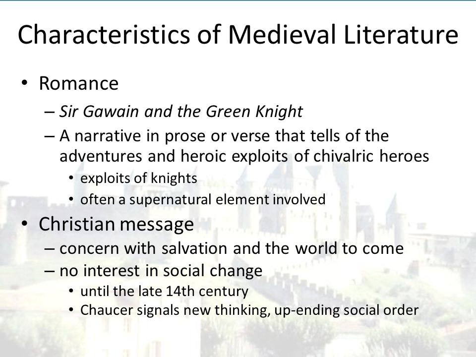 medieval values in sir gawain and the green knight a chivalric romance Sir launfal medieval romance is an adventure story that features kings sir gawain and the green knight tells the story of sir gawain.