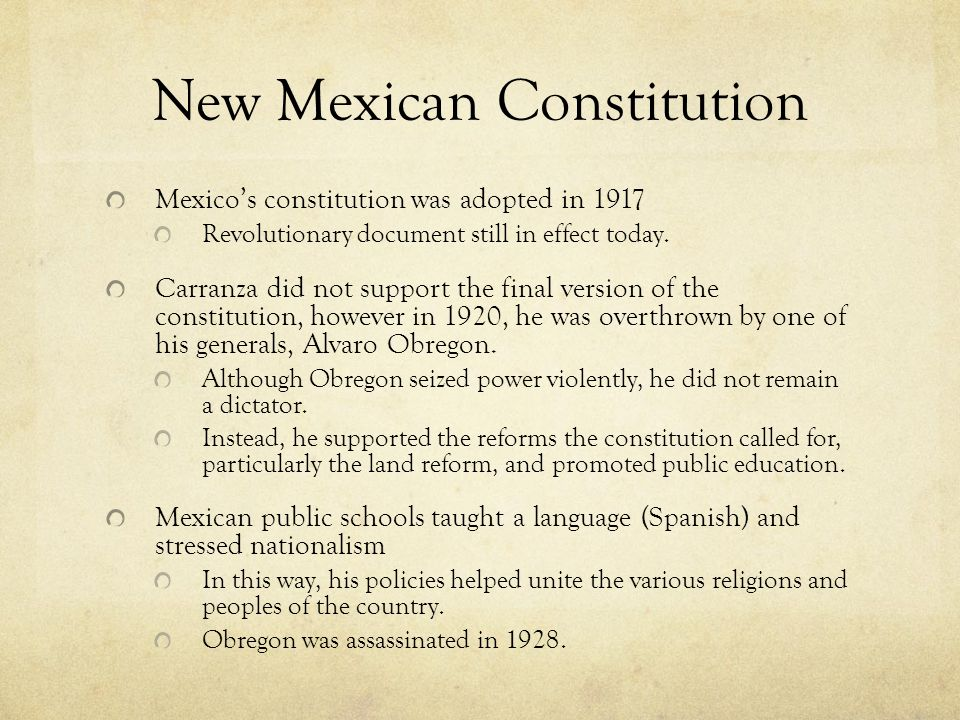 New Mexican Constitution