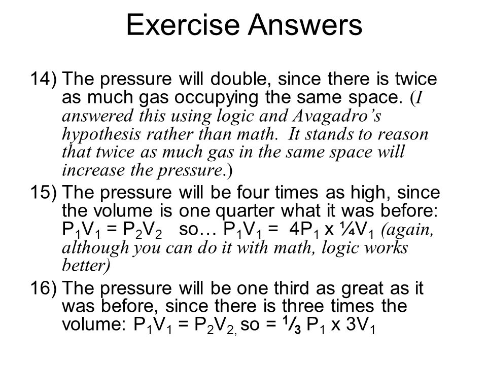 Exercise Answers