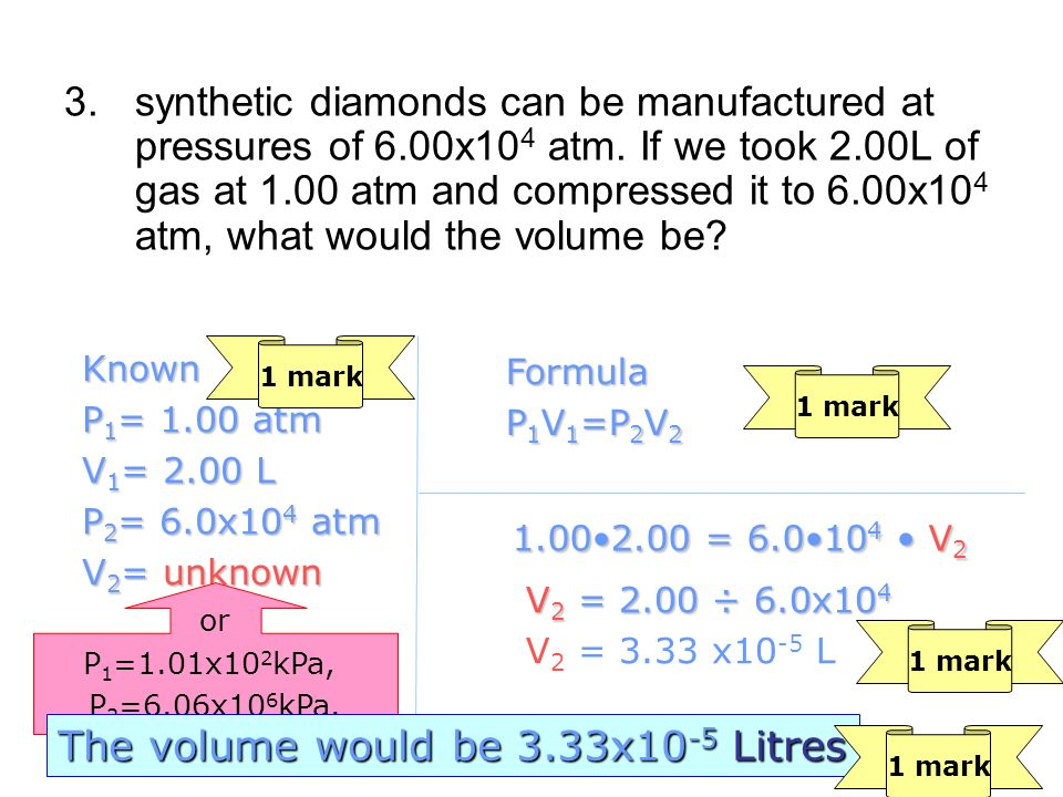 The volume would be 3.33x10-5 Litres