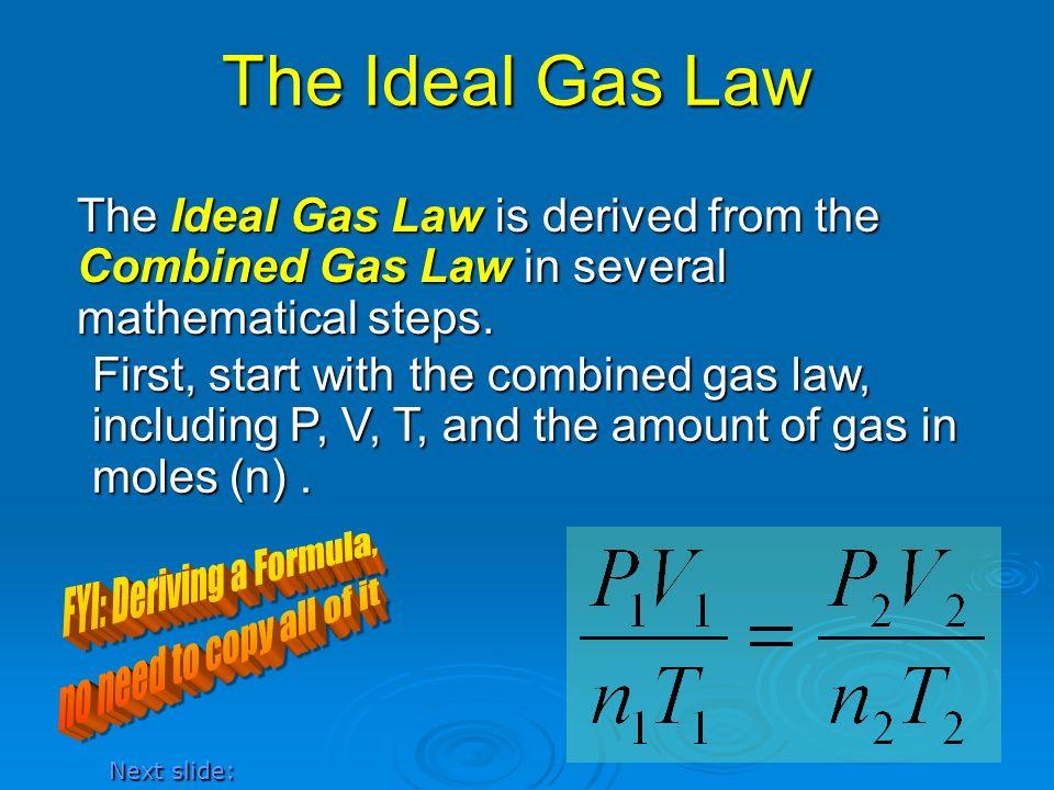 FYI: Deriving a Formula,