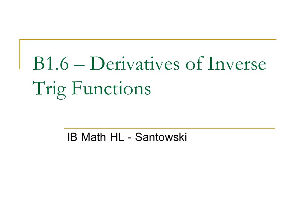 relationship between trigonometric functions and their derivatives