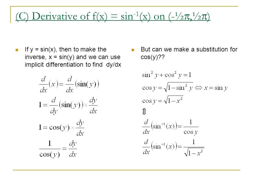derivative of tan 1
