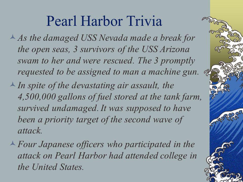 Pearl Harbor Trivia