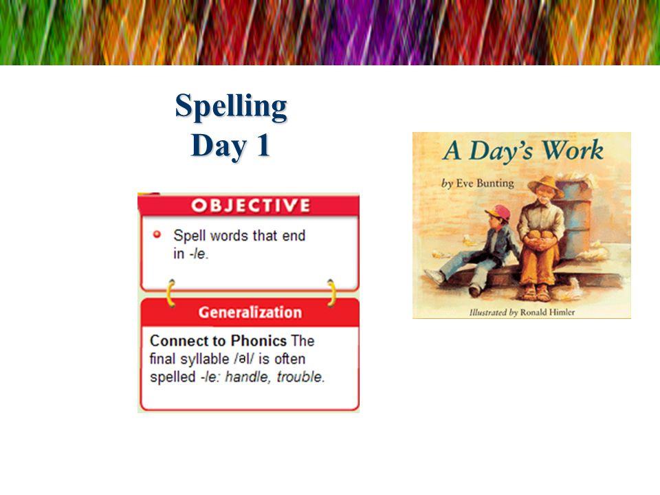 Spelling Day 1