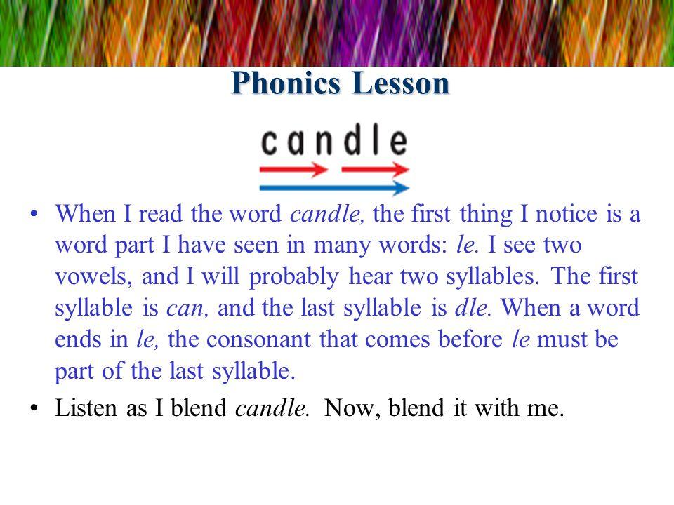 Phonics Lesson