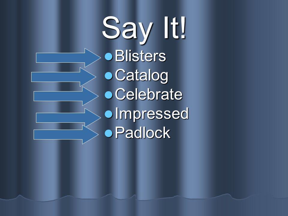 Say It! Blisters Catalog Celebrate Impressed Padlock
