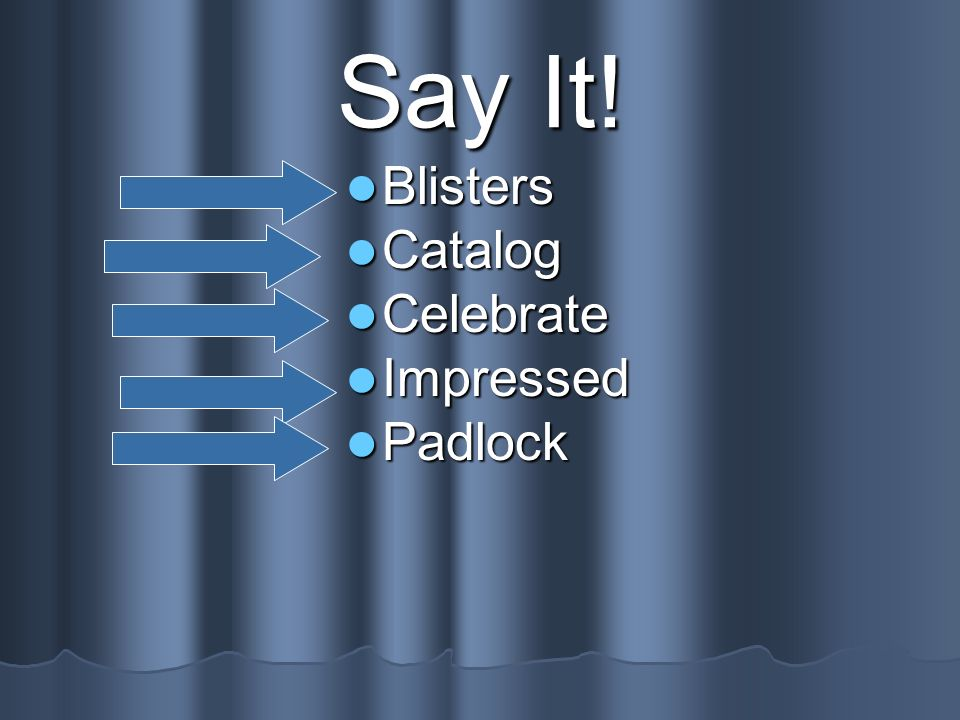 Say It! Blisters Catalog Celebrate Impressed Padlock