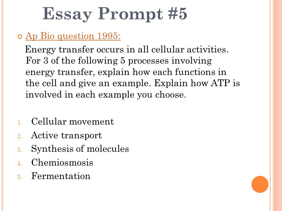 ap biology essay questions from previous years