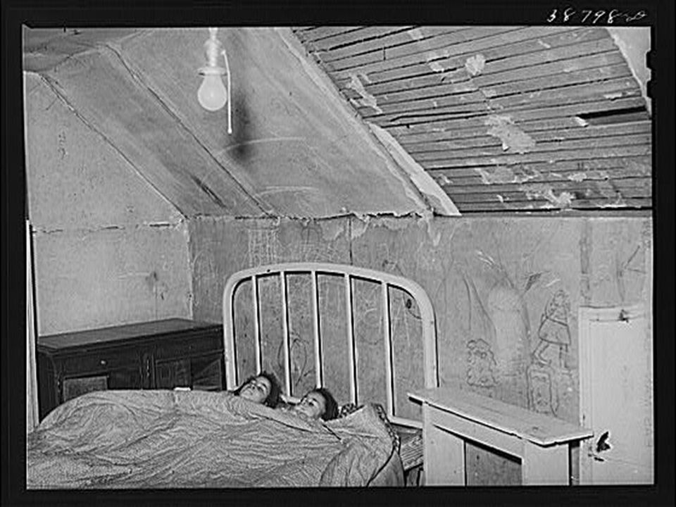Upstairs bedroom of family on relief, Chicago, Illinois. April 1941