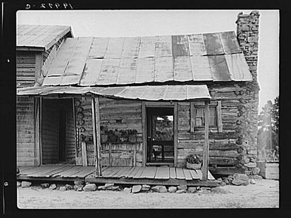 Sharecropper house on dirt