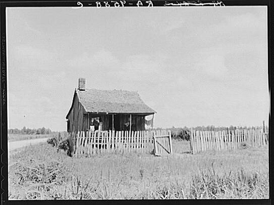 Plantation cotton cabin. Mississippi Delta, near Vicksburg.