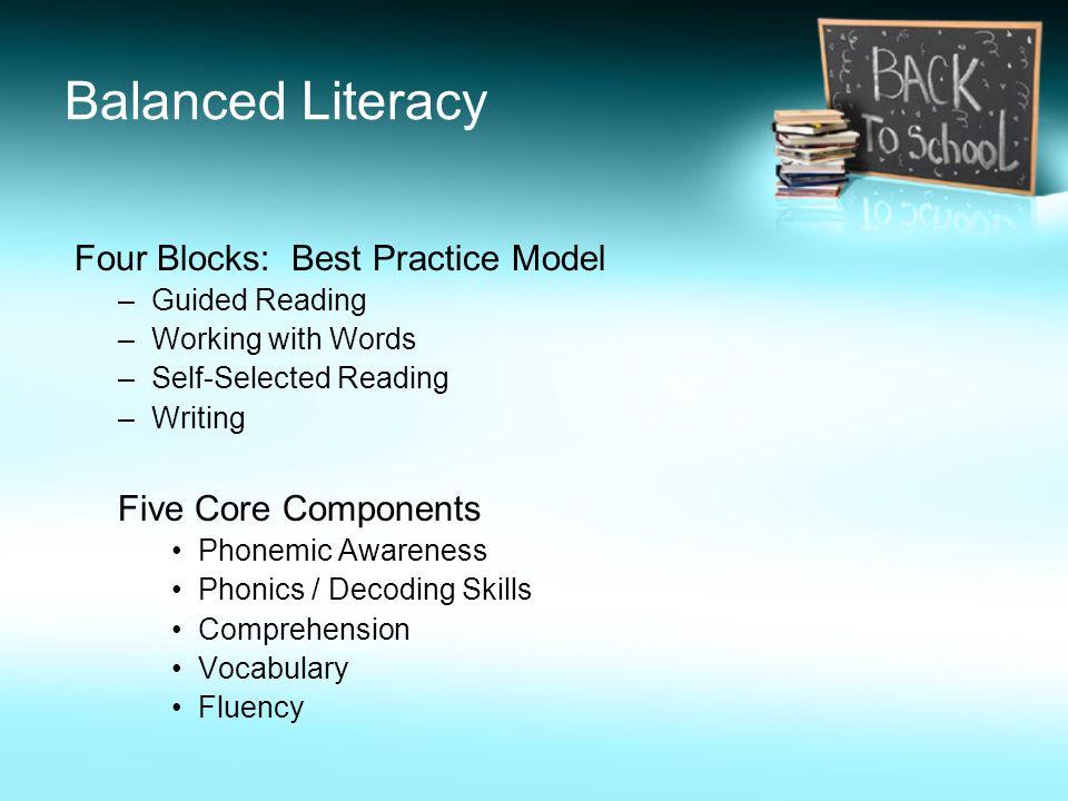 Balanced Literacy Four Blocks: Best Practice Model