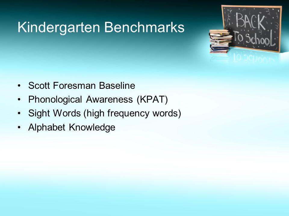 Kindergarten Benchmarks