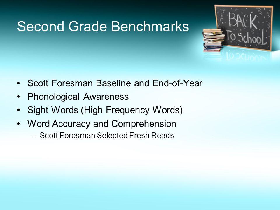 Second Grade Benchmarks
