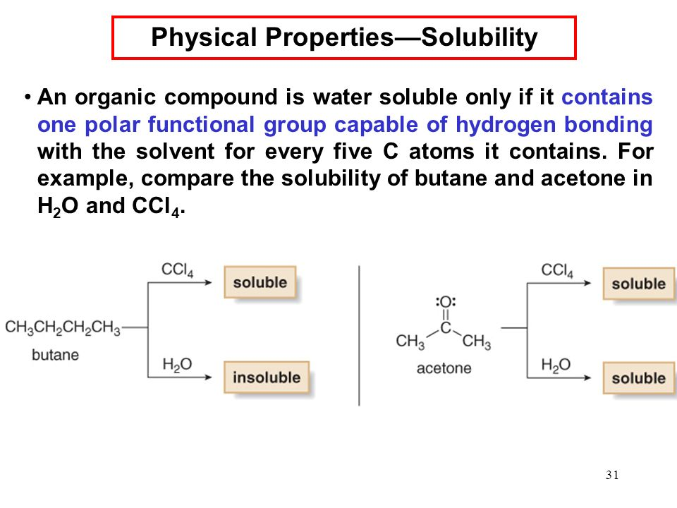 Physical Properties Of Polar And Nonpolar Compounds