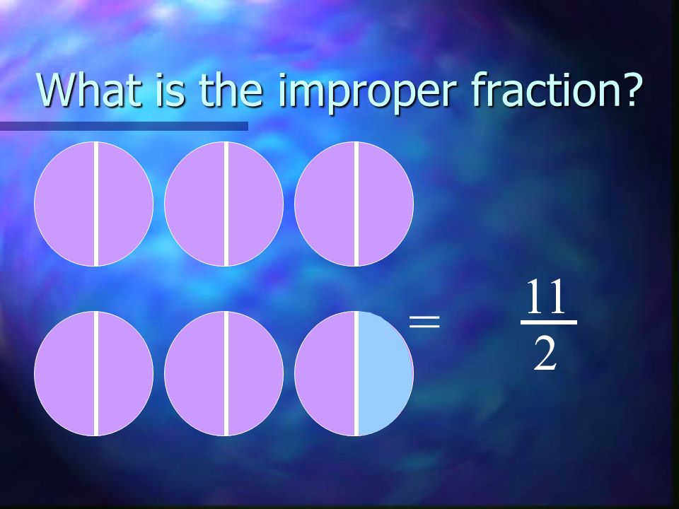 What is the improper fraction