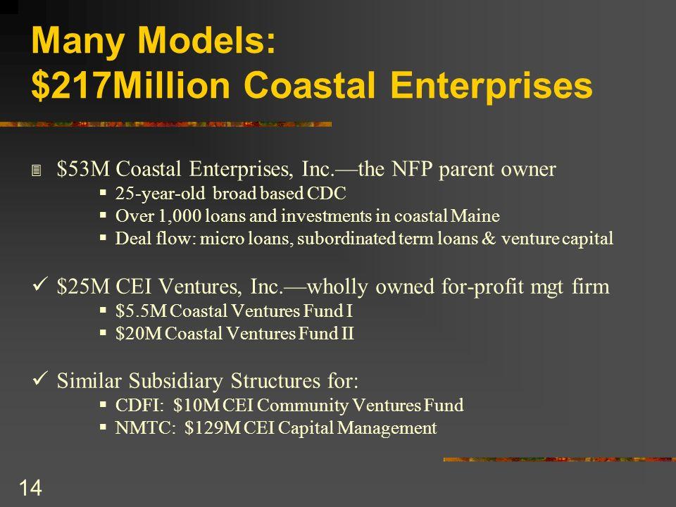 Many Models: $217Million Coastal Enterprises