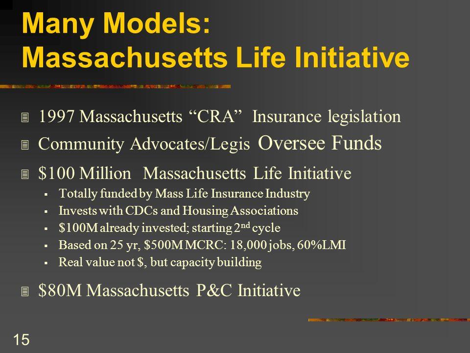 Many Models: Massachusetts Life Initiative