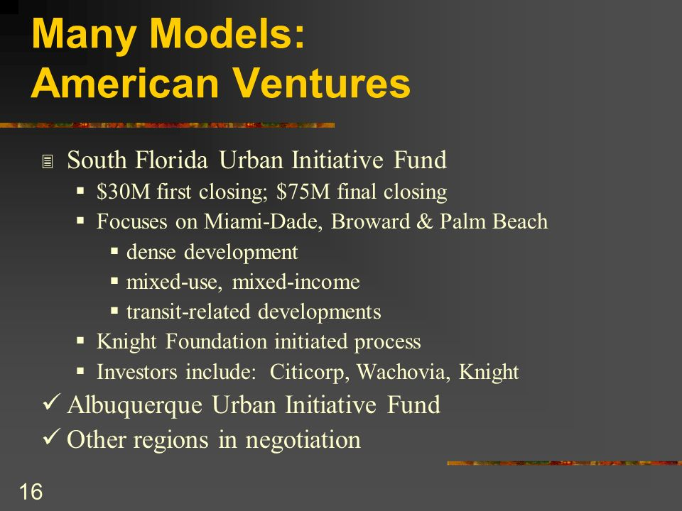 Many Models: American Ventures