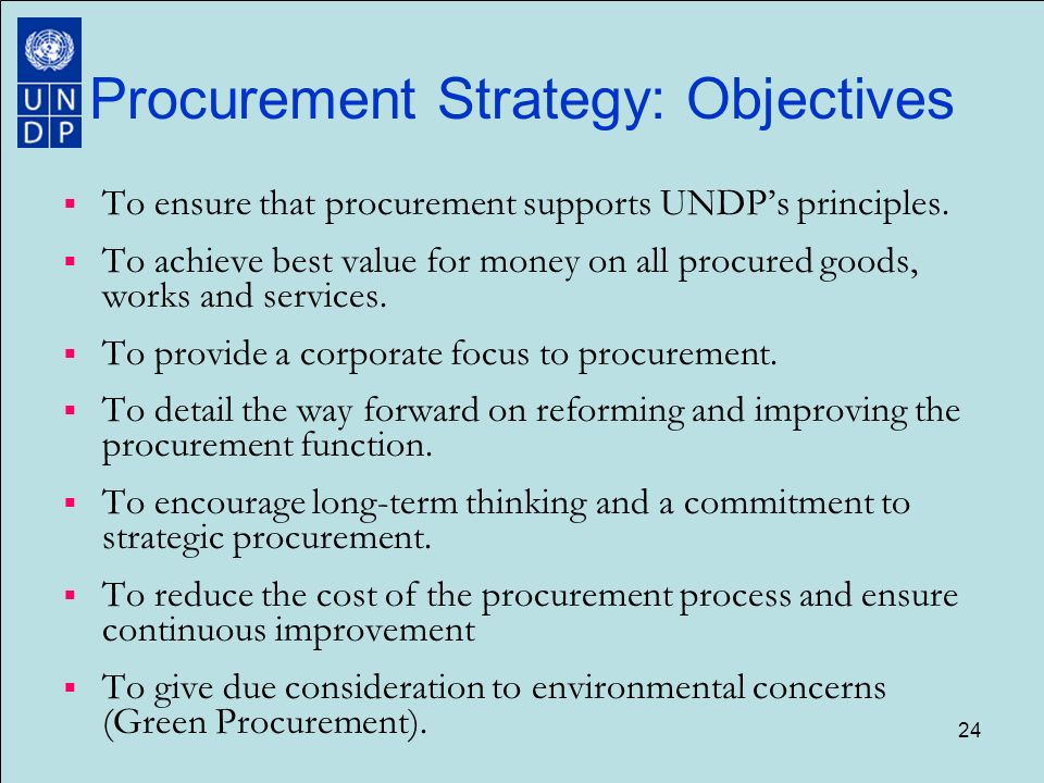 procurement strategy Once a fully funded and approved requisition is accepted by the procurement unit and appropriate sourcing has been conducted, the procurement officer's role is central in determining the appropriate procurement strategy.