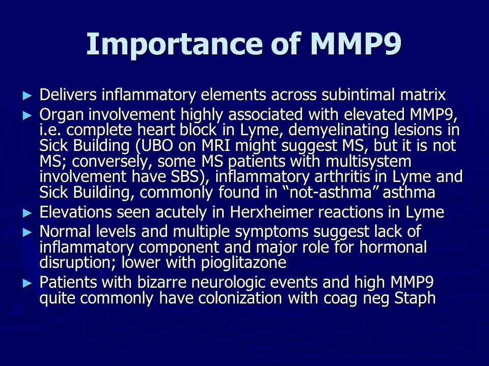 Importance of MMP9 Delivers inflammatory elements across subintimal matrix.