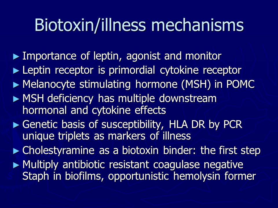 Biotoxin/illness mechanisms