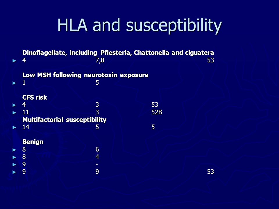 HLA and susceptibility
