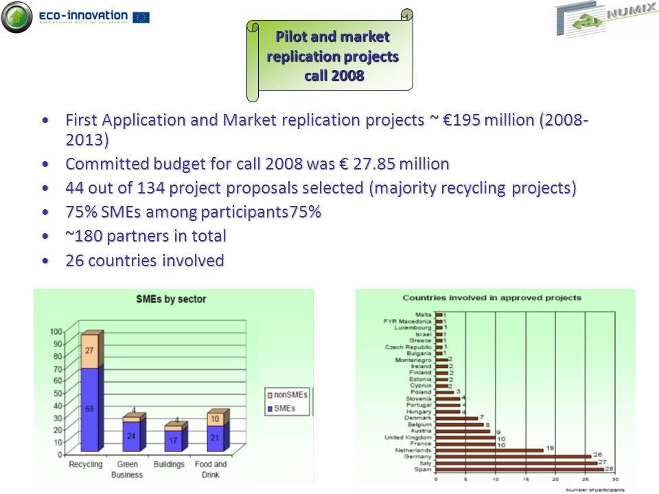 Pilot and market replication projects call 2008