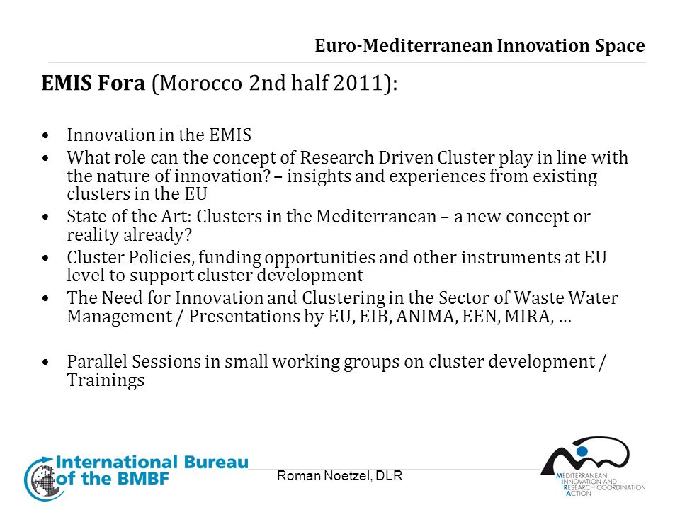 EMIS Fora (Morocco 2nd half 2011):