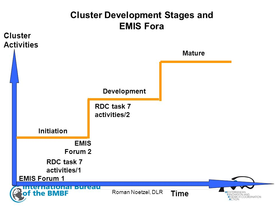 Cluster Development Stages and EMIS Fora