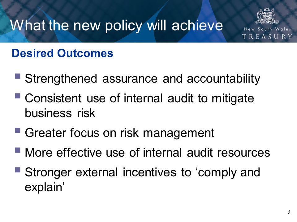 What the new policy will achieve