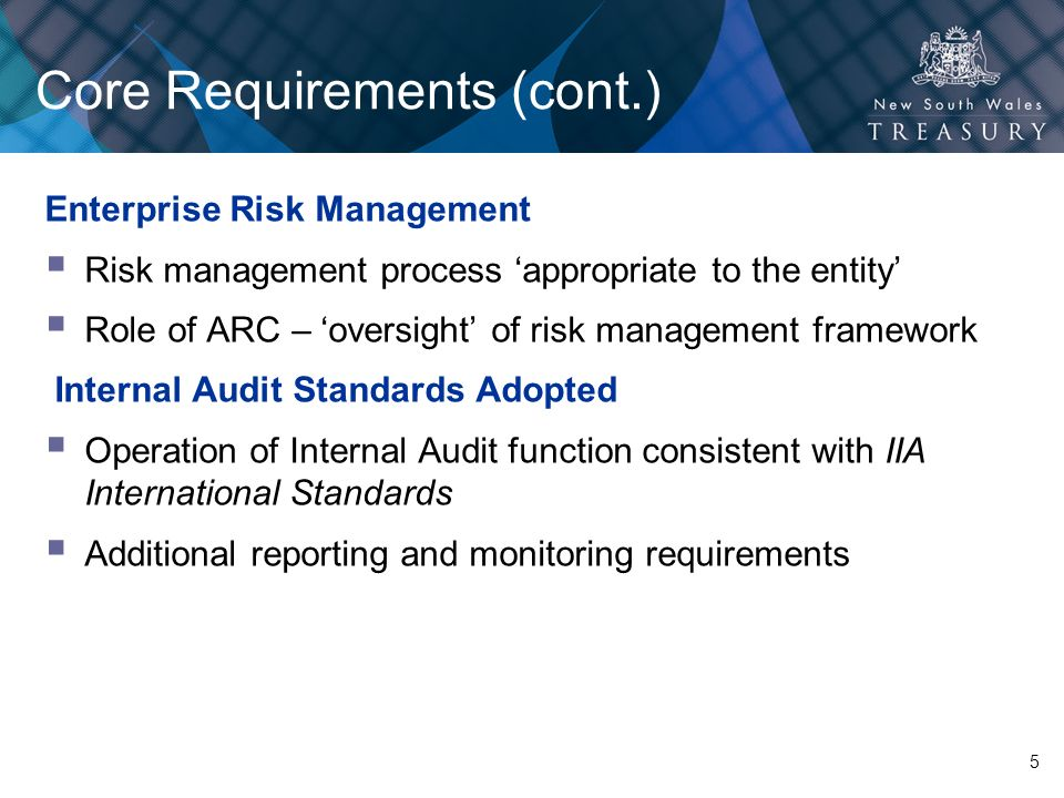 Core Requirements (cont.)