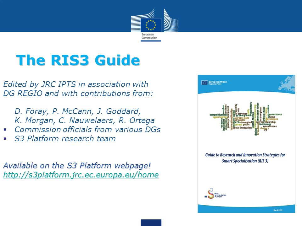 The RIS3 Guide Edited by JRC IPTS in association with