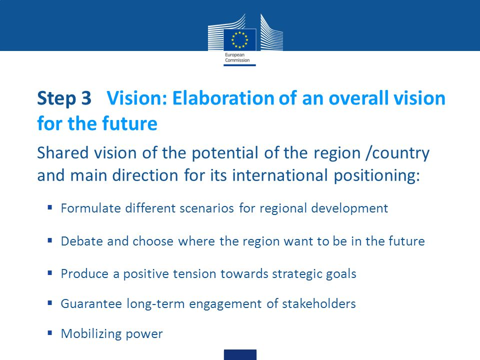 Step 3 Vision: Elaboration of an overall vision for the future