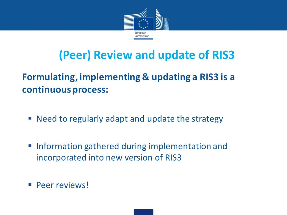 (Peer) Review and update of RIS3