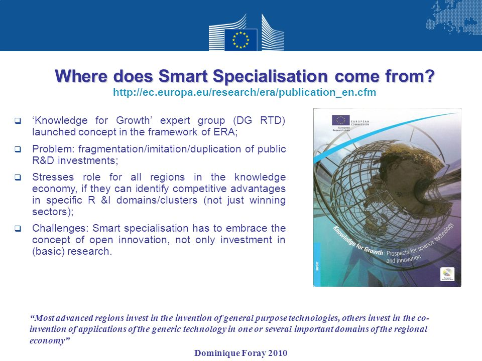 Where does Smart Specialisation come from
