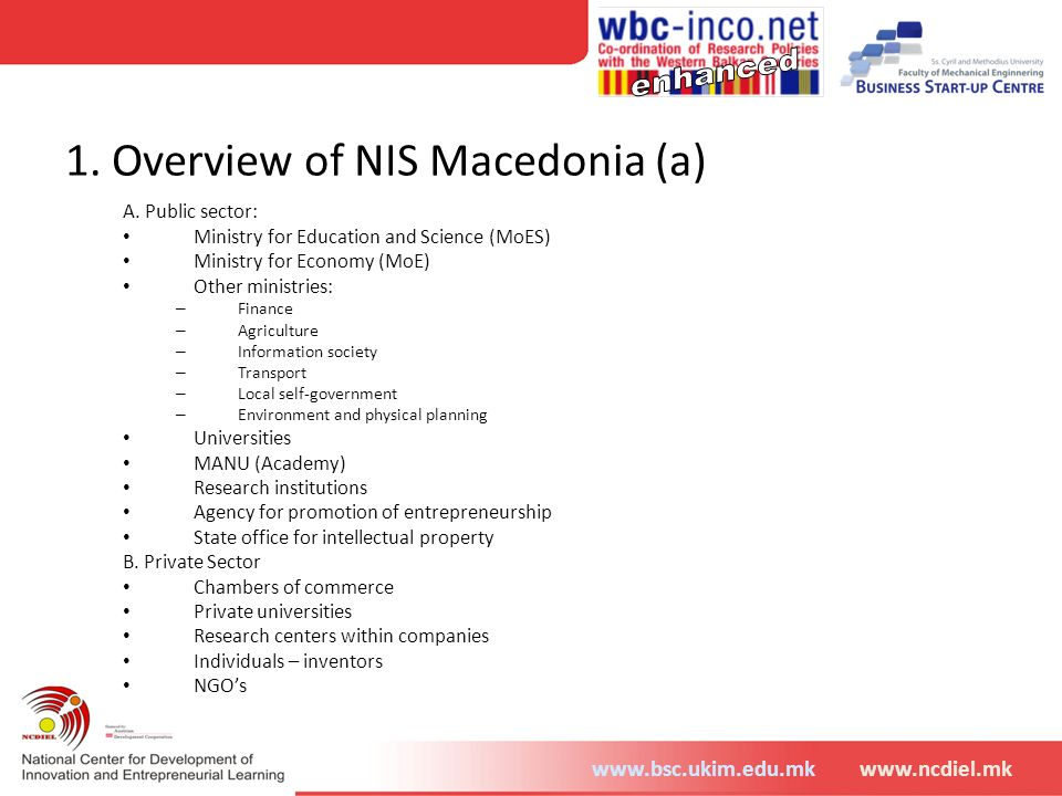 1. Overview of NIS Macedonia (a)
