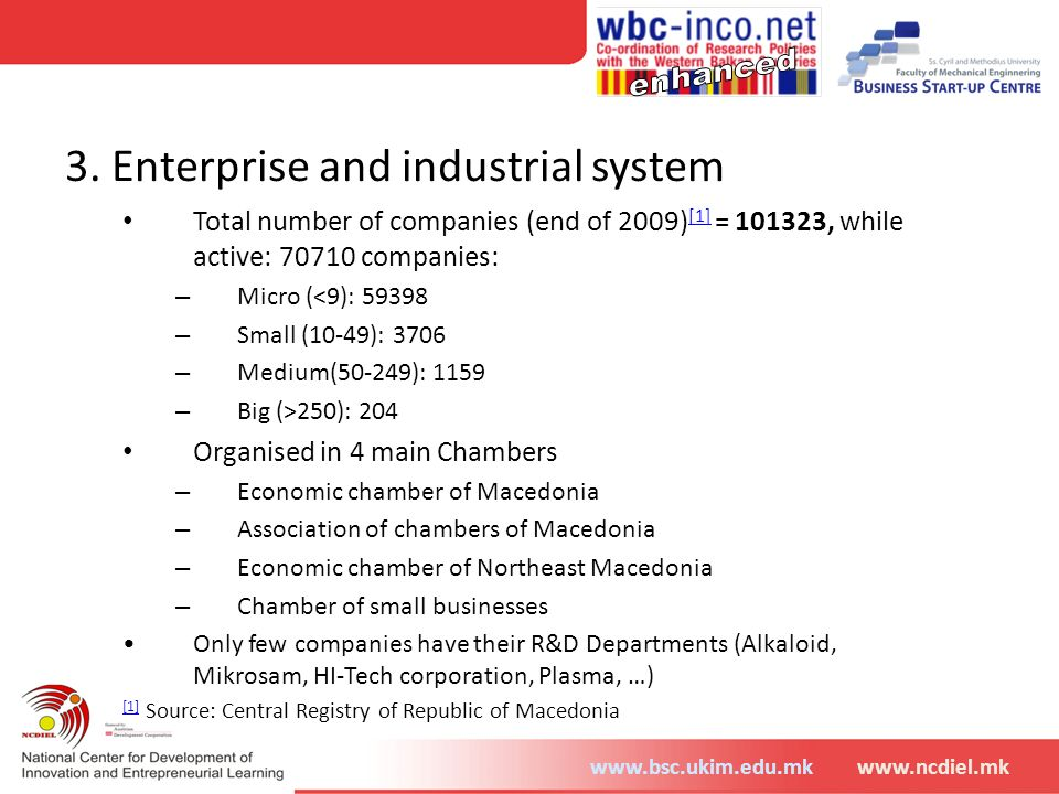 3. Enterprise and industrial system