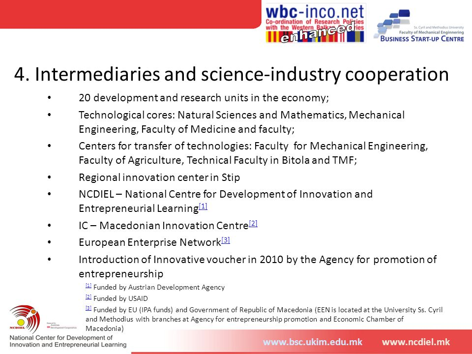 4. Intermediaries and science-industry cooperation