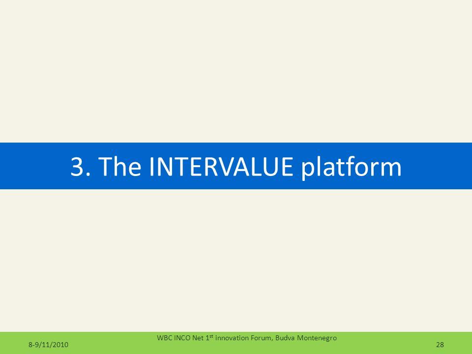 3. The INTERVALUE platform