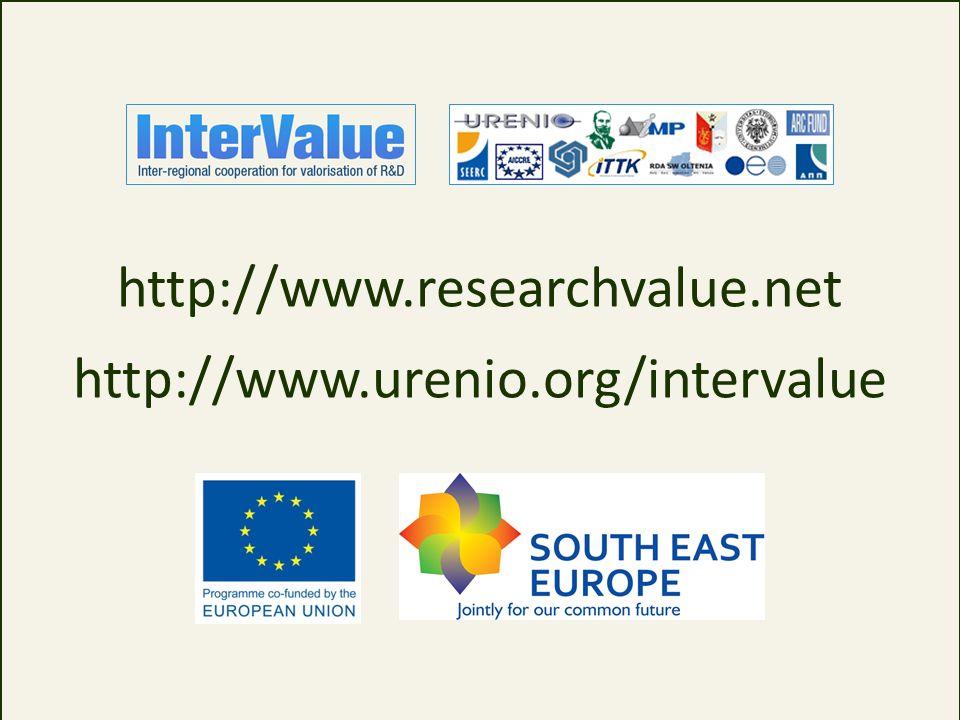 http://www.researchvalue.net http://www.urenio.org/intervalue