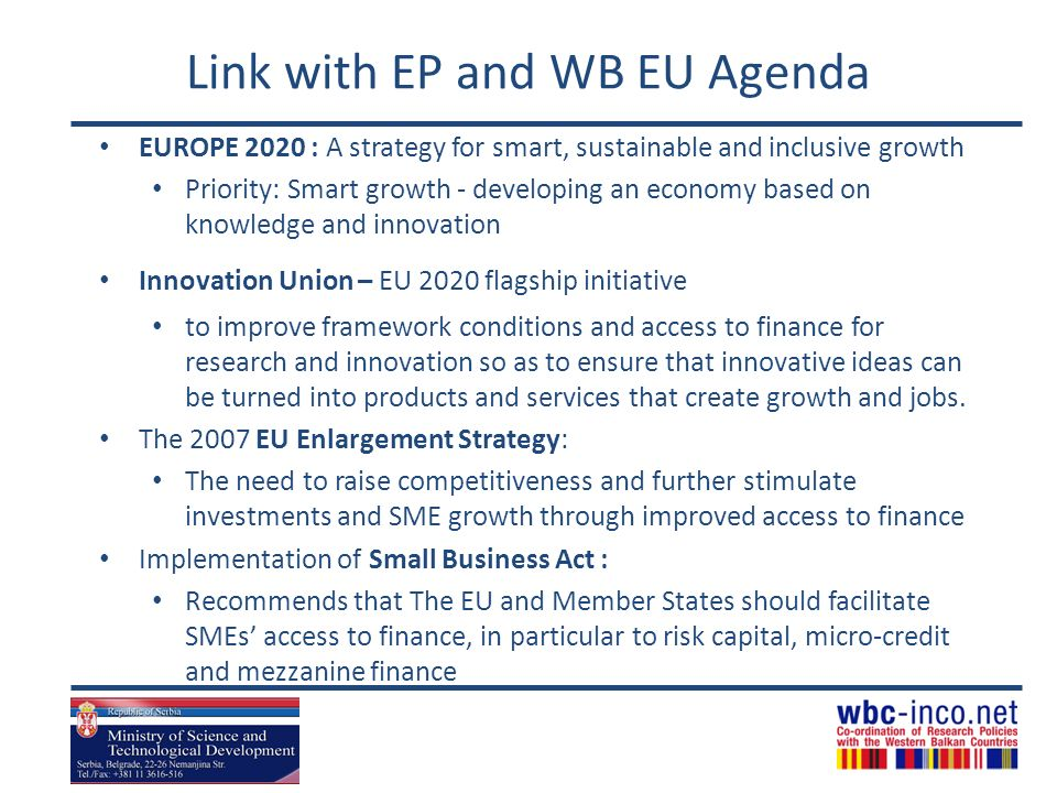 Link with EP and WB EU Agenda