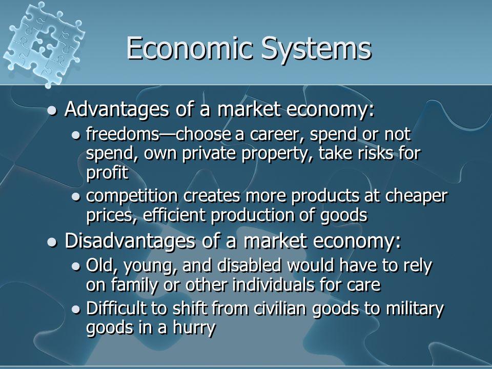 market economy advantages and disadvantages pdf