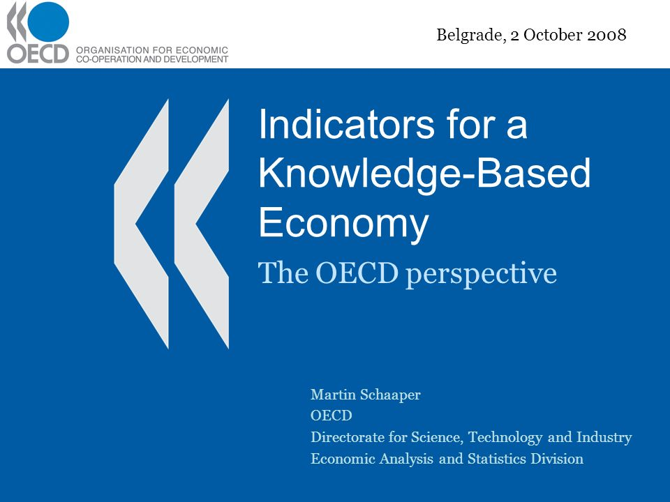Indicators for a Knowledge-Based Economy