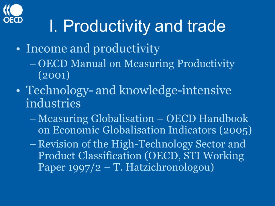 I. Productivity and trade