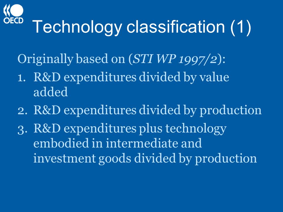 Technology classification (1)