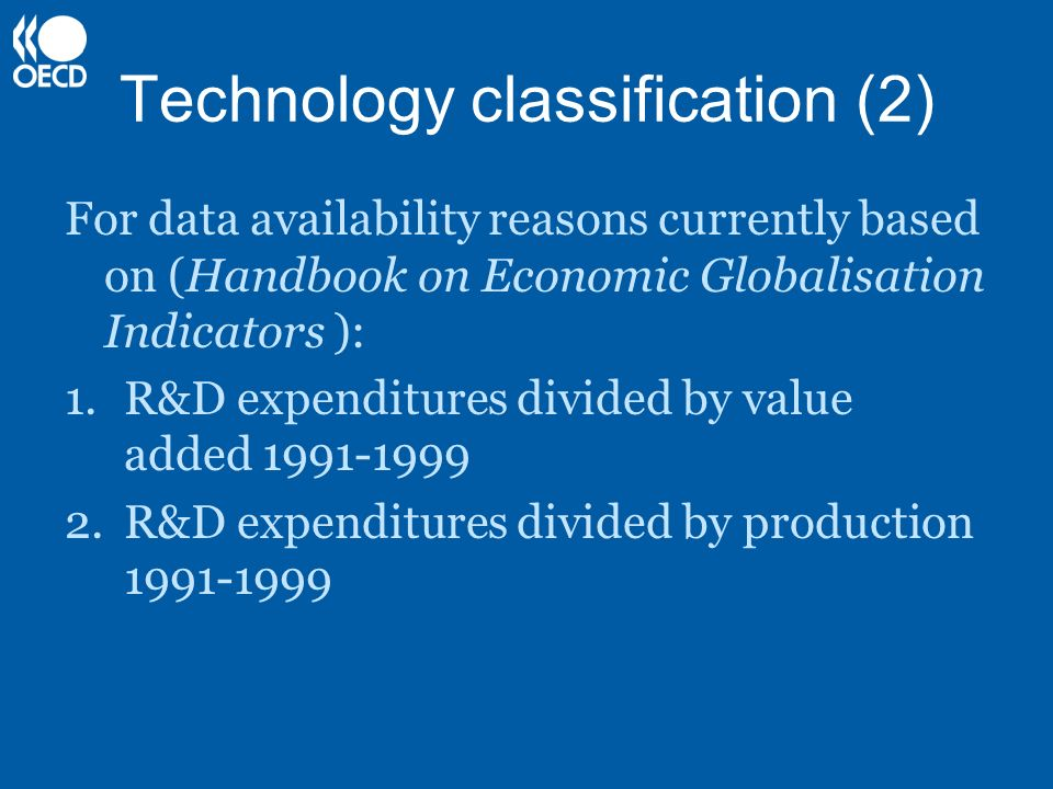 Technology classification (2)
