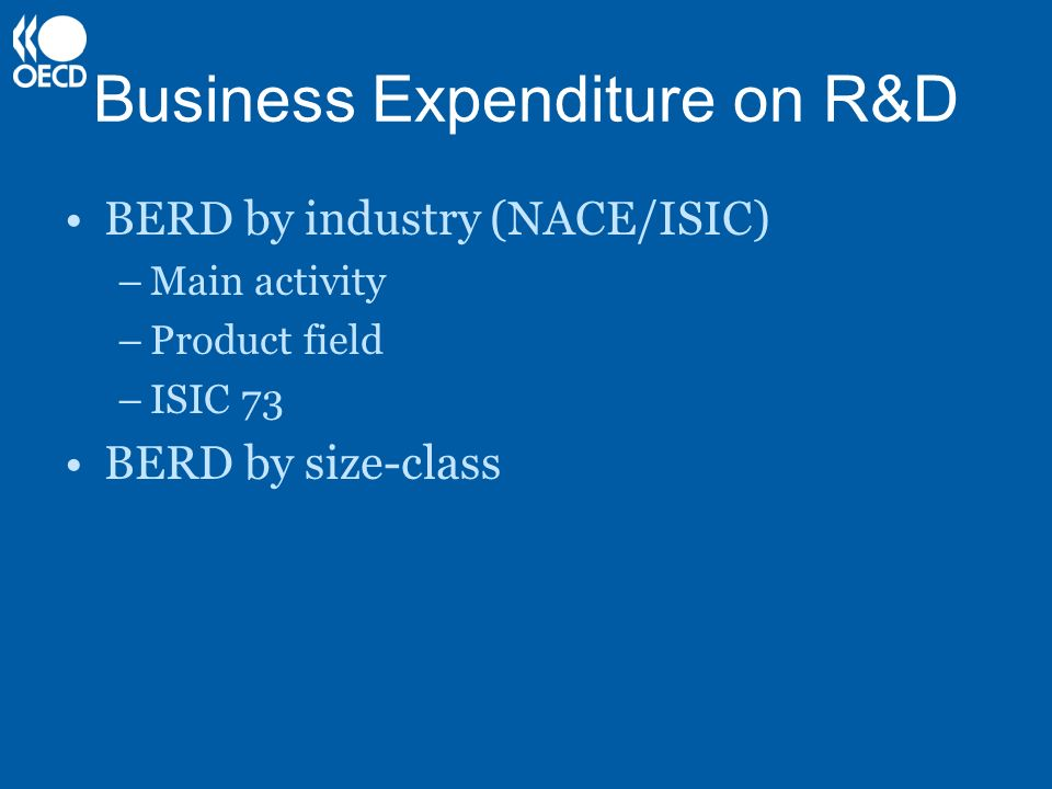 Business Expenditure on R&D