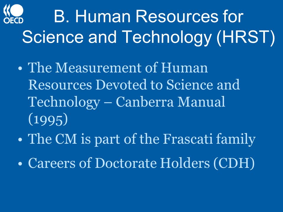 B. Human Resources for Science and Technology (HRST)